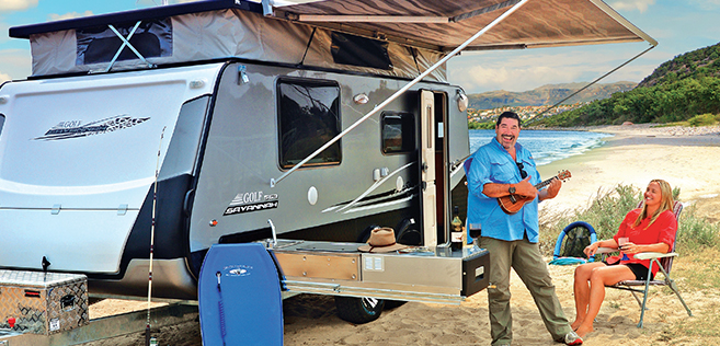 Golf's New Fold out style Caravan
