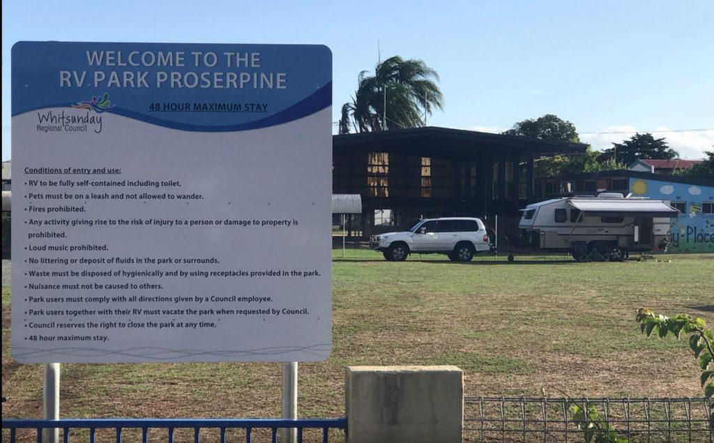 RV park Proserpine behind the Catholic Church